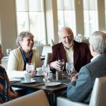 Residents Enjoy Social Time Over a Meal